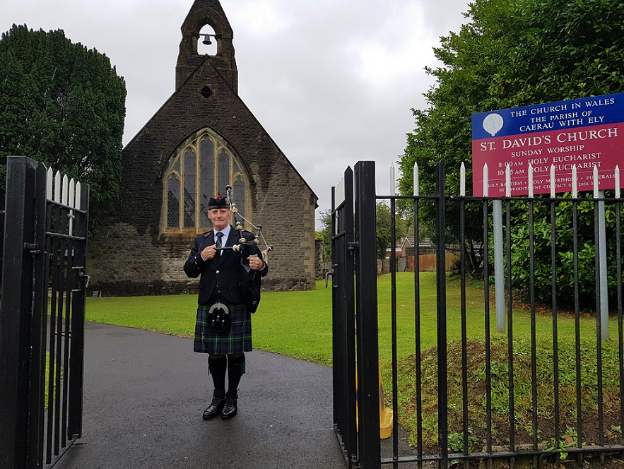 Funeral-Bagpipes, Ely-Cardiff,