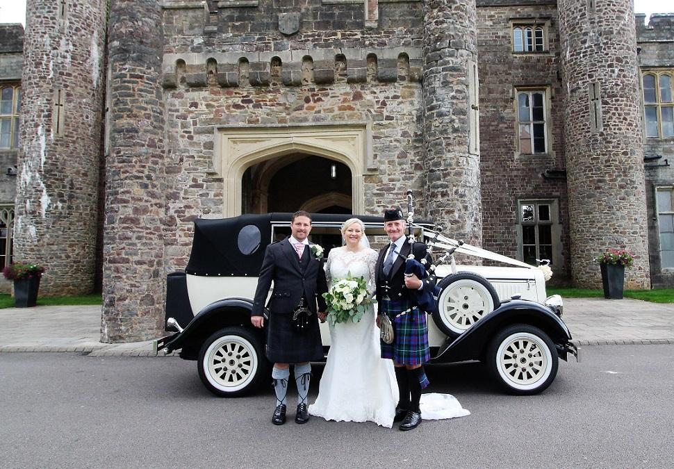 Wedding-Reception-Bagpipes Hensol-Castle-Gavin-Sarah,